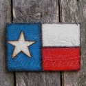 Original Farmhouse Primitive Folk Art Texas Flag Painting