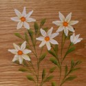 Primitive Folk Art White Daisies Original Daisy Painting on Rustic Wood