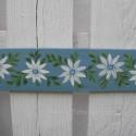Original Door Topper Farmhouse Chic Blue Daisy Painting Folk Art