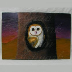 Original Barn Owl Painting