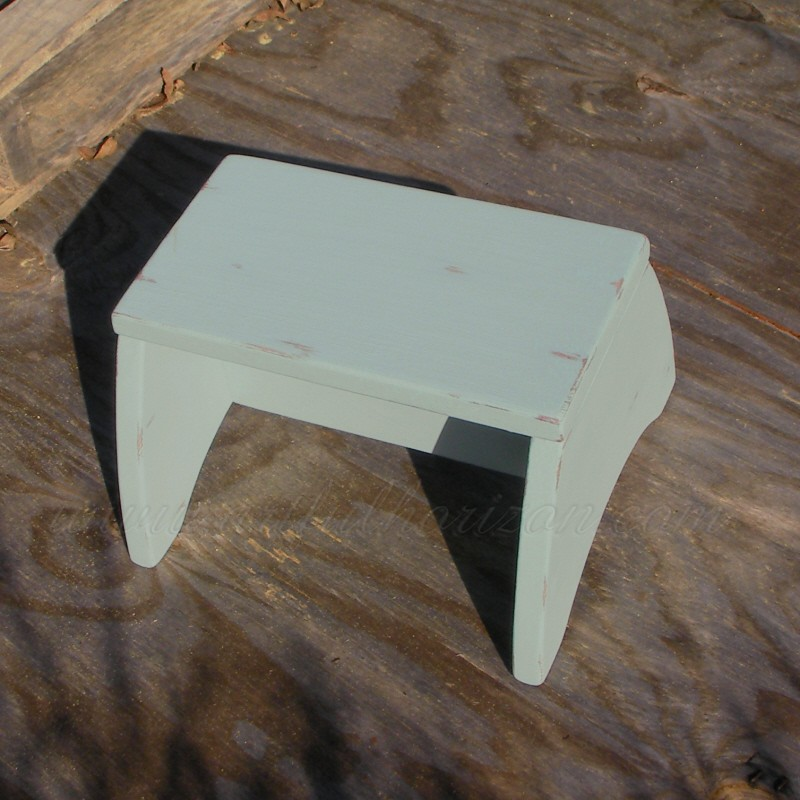 Farmhouse Step Stool Wood Decor Painted Footstool