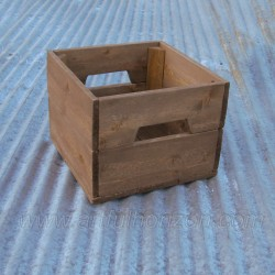 Reclaimed Wood Small Crate Primitive Folk Art Rustic Farmhouse Decor Wedding Centerpiece Bin Box