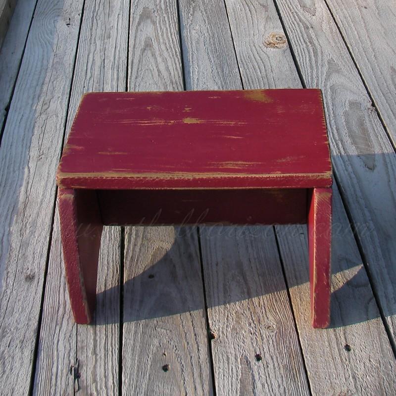 Farmhouse Step Stool Wood Decor Painted Footstool