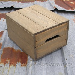 Lidded Reclaimed Wood Crate Primitive Folk Art Rustic Farmhouse Decor Storage Wooden Bin Box