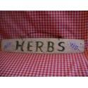 Herbs Sign on Old Primitive Barrel Stave Original Lavender Folk Art