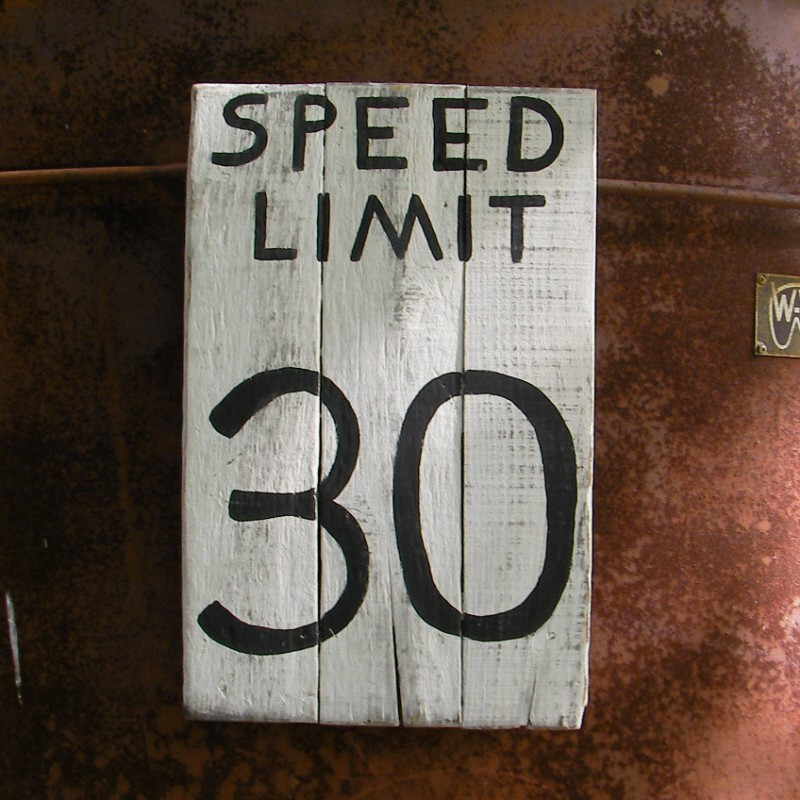 Speed Limit 30 Mph Road Sign Urban Loft Home Decor