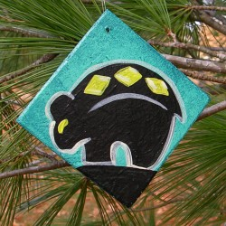 Zuni Black Bear Christmas Tree Ornament Native America Primitive Folk Art