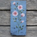 Original Country Cottage Chic Pink Wild Roses Primitive Folk Art Paint