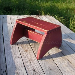 Primitive Folk Art Wood Step Stool Farmhouse Decor Painted Footstool Modern Farmhouse Home Decor Furniture Custom Paint Finish