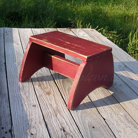 Primitive Folk Art Wood Step Stool Farmhouse Decor Painted Footstool Modern Farmhouse Home Decor Furniture Customize Paint Finis